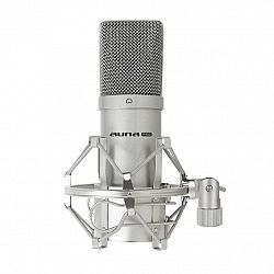 Auna Pro Kondenzátorový mikrofón auna Pro MIC-900S, USB, strieborný