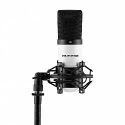 Auna Pro MIC-900WH, biely, USB, kondenzátorový mikrofón, kardioidný, štúdiový