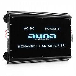 Auna-W2-Ac600, 6-kanálový zosilňovač do auta, 6000W