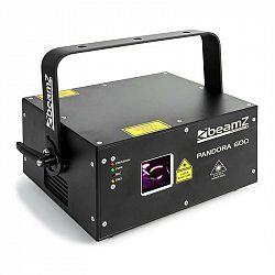 Beamz Pandora 600, laserový efekt, TTL RGB, MIC, ILDA, zvukovosenzitívny, master/slave, 400 mW