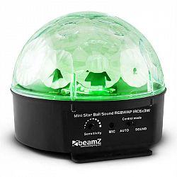 Beamz Starball, 25W, čierny LED svetelný efektovač so 6 x RGBWAP LED, diaľkovým ovládaním