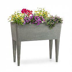 Blumfeldt Mammutgrow, vysoký záhon, 76 x 65 x 37 cm, UV ochrana, ochrana voči mrazu, sivý