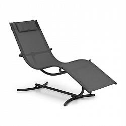 Blumfeldt Nantes, hojdacie ležadlo, 63,5 x 98,5 x 155 cm, ComfortMesh, tmavosivé