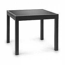 Blumfeldt Pamplona Extension, záhradný stôl, 180 x 83 cm max., hliník, sklo, tmavosivý