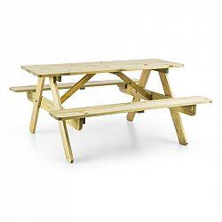Blumfeldt Picknickerchen, detský piknikový stôl, hrací stôl, pravé borovicové drevo
