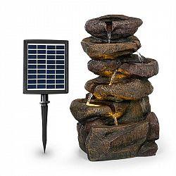Blumfeldt Savona, solárna fontána, 2,8 W, polyresin, 5 hod., akumulátor, LED osvetlenie, vzhľad kameňa