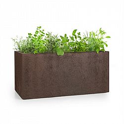 Blumfeldt Solid Grow Rust, kvetináč, 80 x 38 x 38 cm, fibreclay, hrdzavá farba