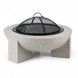 Blumfeldt Troja, ohnisko, Ø 75 cm, grilovací rošt, oceľ, pálená magnézia, kameninové