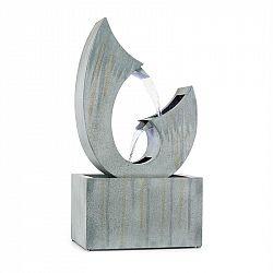 Blumfeldt Trumpet Flow, záhradná fontána, 8 W, pozinkovaný kov, LEDky