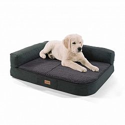 Brunolie Odin, pelech pre psa, podložka pre psa, možnosť prania, ortopedický, protišmykový, priedušný, pamäťová pena, veľkosť S (80 × 10 × 60 cm)