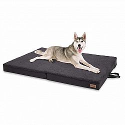 Brunolie Paco, pelech pre psa, psia podložka, prateľný, ortopedický, protišmykový, priedušný, sklápateľný, pamäťová pena, veľkosť XL (120 x 10 x 85 cm)