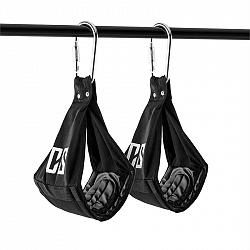 Capital Sports Armlug Ab Slings, max. 120 kg, čierna, tréningové ramenné opierky, karabínkové háky