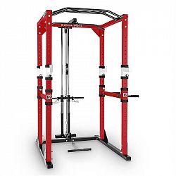 Capital Sports Tremendour PL, červený, posilňovací stojan, Power Rack, kladka, oceľ