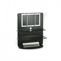 Electronic-Star TV nábytok, sklo, 2 poschodia, LCD držiak, rack, čierny