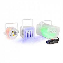 Ibiza CLEAR-PACK, sada svetelných efektov, Firefly laser, Derby LED, dymostroj 400 W