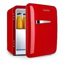 Klarstein Audrey, mini chladnička, EEC A+, mraziaci priečinok, LED, červená
