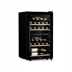 Klarstein Barossa 34 Duo, vinotéka, 2 zóny, 34 fliaš, sklené dvierka, dotykové ovládanie, čierna