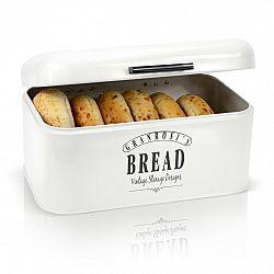 Klarstein Delaware, chlebník, kovový, 30 x 16 x 20,5 cm, výklopné veko, vetracie otvory