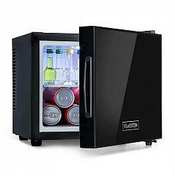 Klarstein Frosty, mini chladnička, energetická trieda A, dvere so zrkadlovým sklom, 10 litrov, čierna