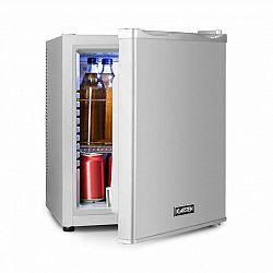 Klarstein Happy Hour 25, minibar, 25 l, 5 – 15 °C, energetická trieda B, tichý, 0 dB, LED svetlo, strieborný