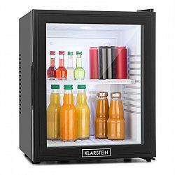 Klarstein MKS-13 minibar, 36 litrov, trieda B, čierny, sklo