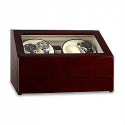 Klarstein Old Marshall, naťahovač na hodinky, pohyblivá vitrína, 10 hodiniek, hnedý