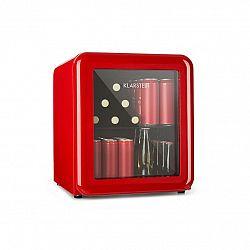 Klarstein PopLife, chladnička na nápoje, chladnička, 48 litrov, 0 - 10 °C, retro dizajn, červená