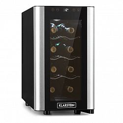 Klarstein Reserva 8 Slim Uno, vinotéka, 23 litrov, 8 fliaš, 11 – 18 °C, 26 dB, ušľachtilá oceľ