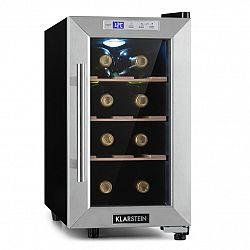 Klarstein Reserva 8 Uno, vinotéka, 23 litrov, 8 fliaš, 11 – 18 °C, 26 dB, ušľachtilá oceľ