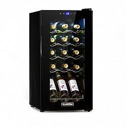 Klarstein Shiraz 15 Slim Uno, vinotéka, 44 l, dotyková, 135 W, 5 – 18 °C, čierna