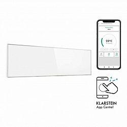Klarstein Wonderwall 300 Smart, infračervený ohrievač, 30 x 100 cm, 300 W, týždenný časovač, IP24, biely