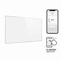 Klarstein Wonderwall 450 Smart, infračervený ohrievač, 50 x 90 cm, 450 W, týždenný časovač, IP24, biely