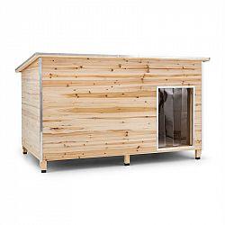 OneConcept Schloss Wuff, búda pre psa, veľkosť XL, 110 x 160 x 100 cm, izolovaná, závetrie, drevo
