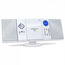 OneConcept V-12, biela, stereosystém s CD-MP3-prehrávačom, USB, SD, AUX