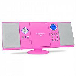OneConcept V-12, stereo zariadenie, ružové