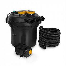 Waldbeck Aquaklar, set tlakového filtra do jazierka, 11W UV-C čistič, 35W pumpa, 5 m hadica