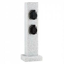 Waldbeck Granite Power, stĺp s elektrickými zásuvkami, 4 zásuvky, 3500 W, PE vzhľad kameňa
