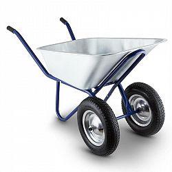 Waldbeck Heavyload fúrik, 120l, 320kg, záhradný fúrik, 2-kolieskový, oceľ, modrá